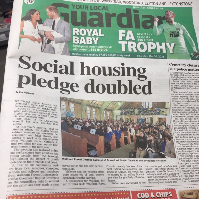 Front Page - Double social rent